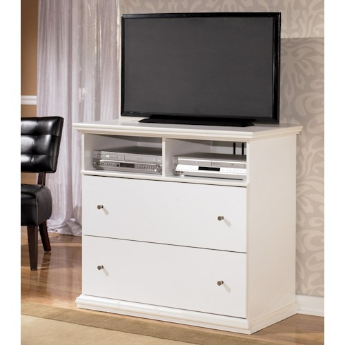 Signature Design by Ashley Bostwick Shoals Casual 2-Drawer and 2 Shelf Media Chest