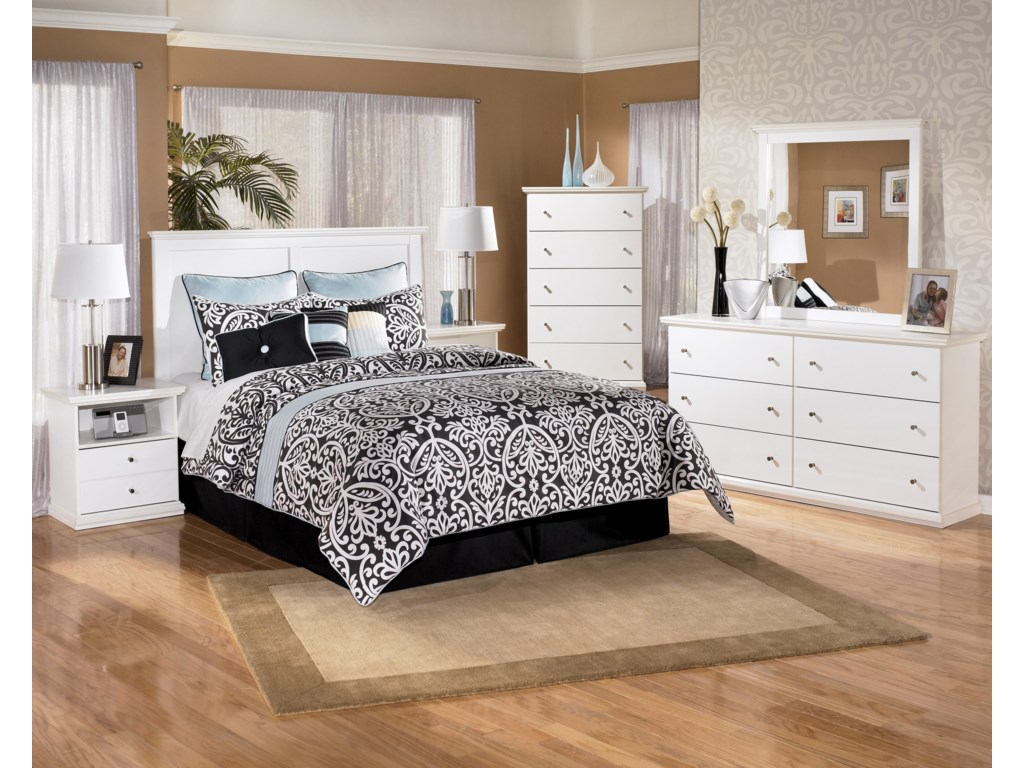 Shown with Nightstand, Panel Headboard, Dresser & Mirror