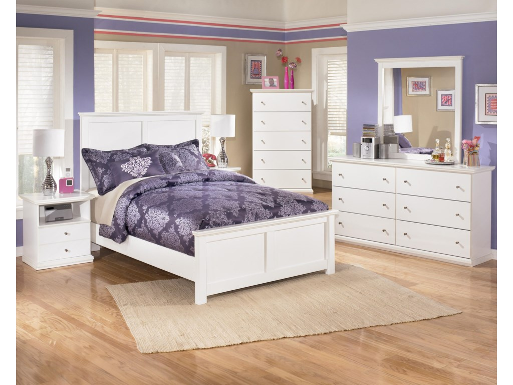 Shown with Nightstand, Panel Bed, Dresser & Mirror