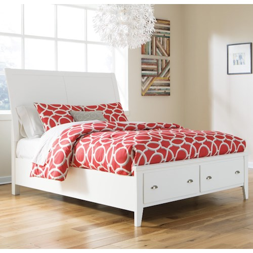 Signature Design by Ashley Langlor King Storage Bed with Sleigh Headboard
