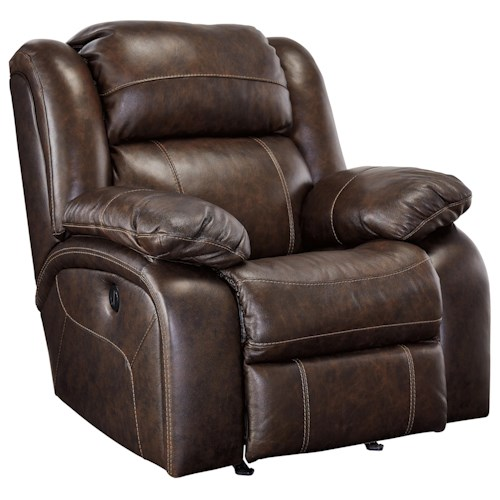 Signature Design by Ashley Branton Leather Match Rocker Recliner