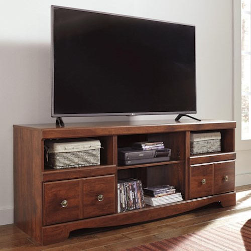 Signature Design by Ashley Brittberg Cherry Finish Large TV Stand
