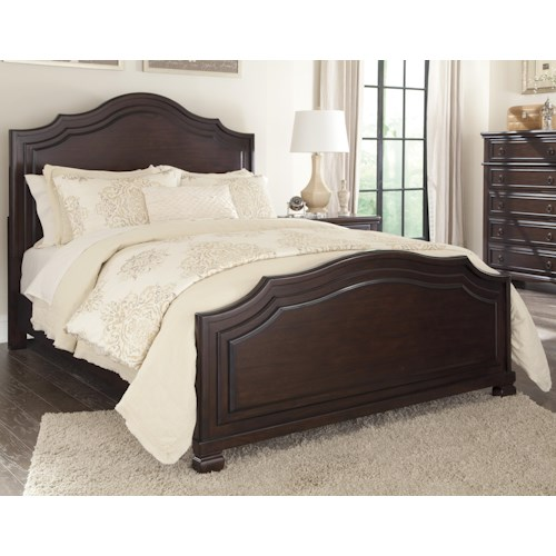 Signature Design by Ashley Brulind California King Panel Bed with Thick Shaped Molding