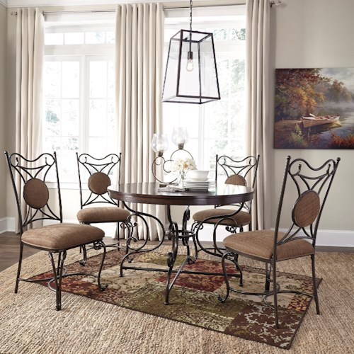 Signature Design by Ashley Brulind Transitional 5 Piece Table and Chair Set