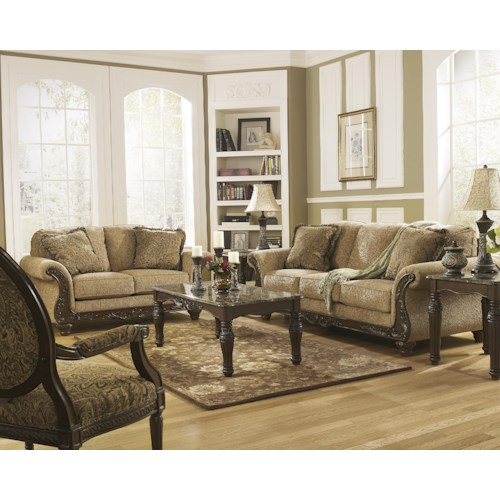 Signature Design by Ashley Cambridge - Amber Stationary Living Room Group