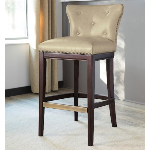 Signature Design by Ashley Canidelli White Upholstered Barstool with Low Back