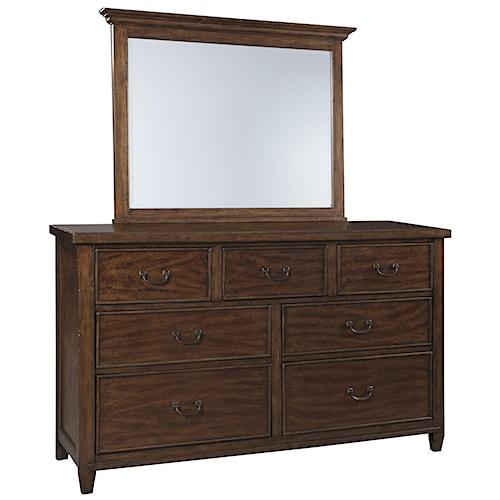 Signature Design by Ashley Chaddinfield Dresser & Bedroom Mirror