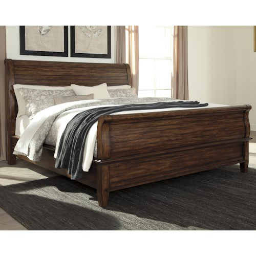 Signature Design by Ashley Chaddinfield Queen Sleigh Bed