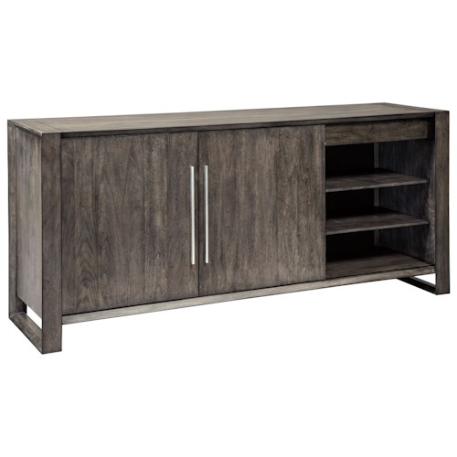 Signature Design by Ashley Chadoni Contemporary Dining Room Server with Adjustable Shelves and Drawers