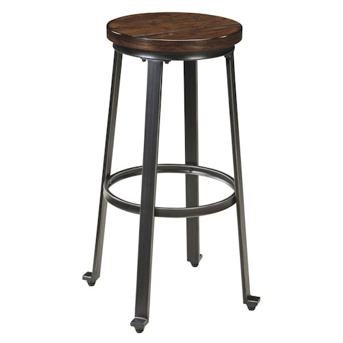 Signature Design by Ashley Challiman Industrial Style Armless Tall Stool