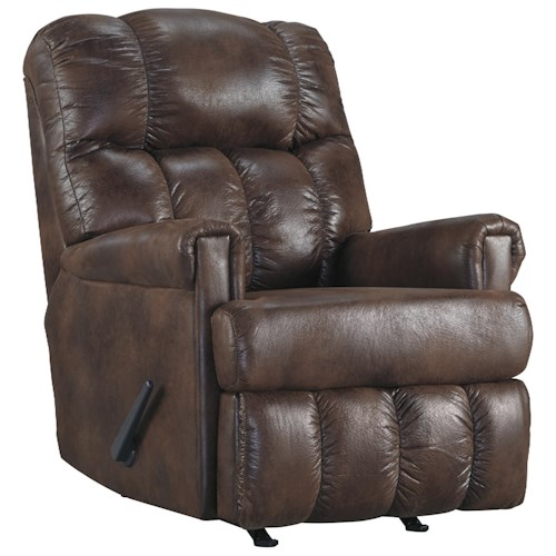 Signature Design by Ashley Chipster Rocker Recliner with Rolled Arms