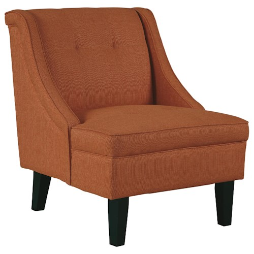 Signature Design by Ashley Clarinda Accent Chair with Sloping Arms and Tufted Details