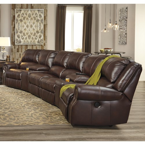 Signature Design by Ashley Collinsville 6-Piece Power Recline Theater Seating Group