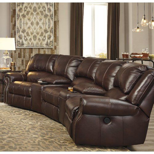 Signature Design by Ashley Collinsville 5-Piece Theater Seating Group with Armless Recliner