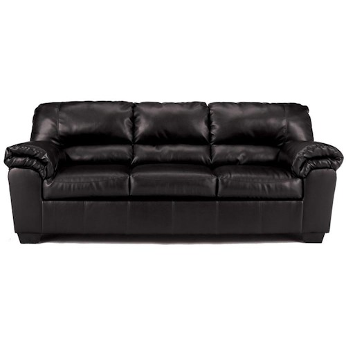 Signature Design by Ashley Commando - Black Casual Stationary Sofa