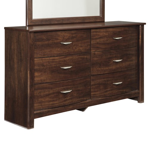 Signature Design by Ashley Corraya Dresser with Bow-Front Drawers