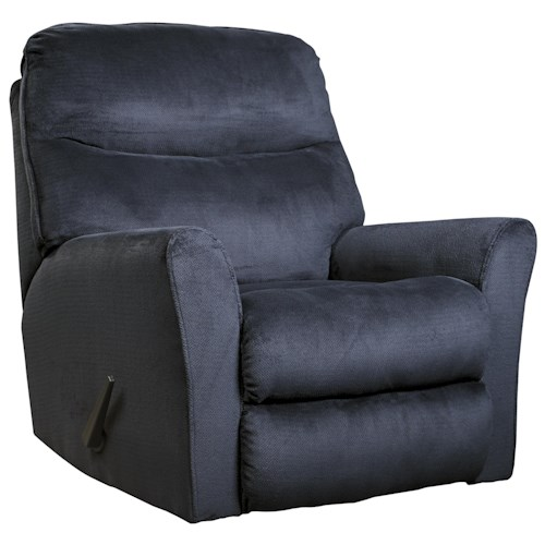 Signature Design by Ashley Collette Casual Contemporary Rocker Recliner with Flared Arms