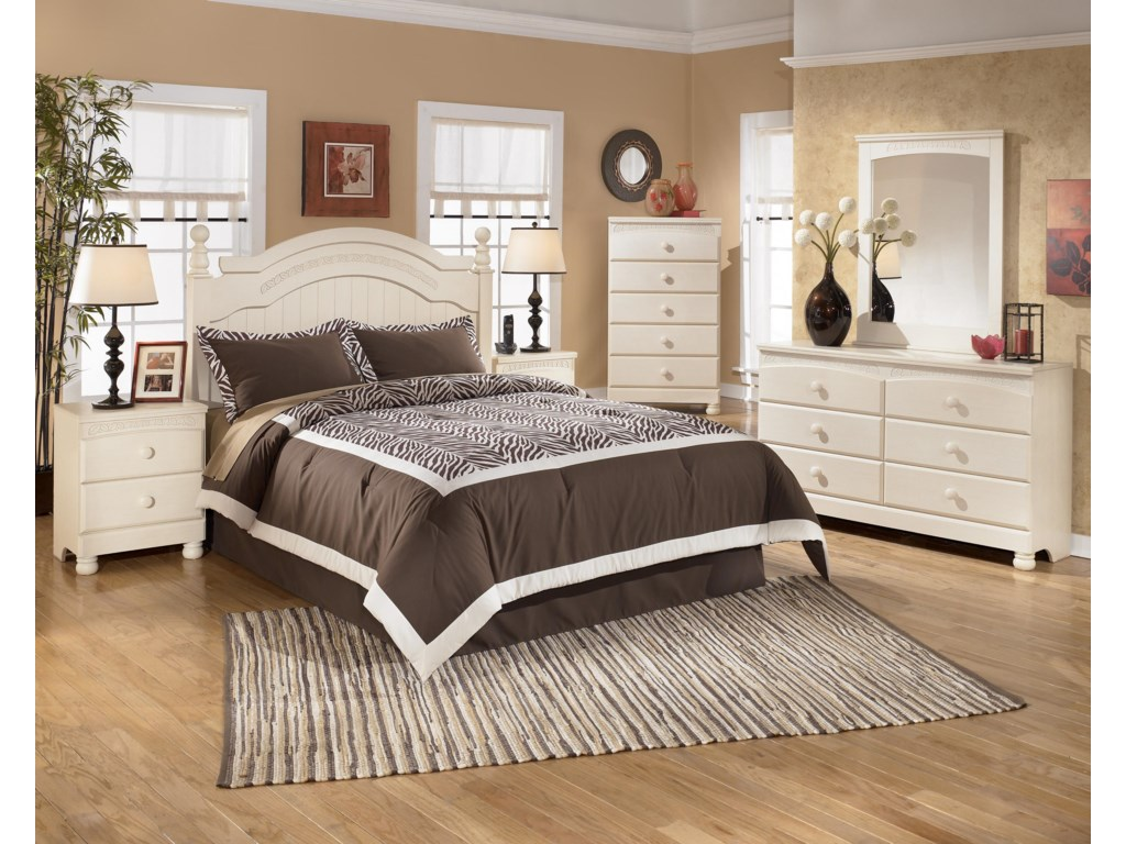 Shown with 2 Night Stands, Chest, Dresser, and Mirror