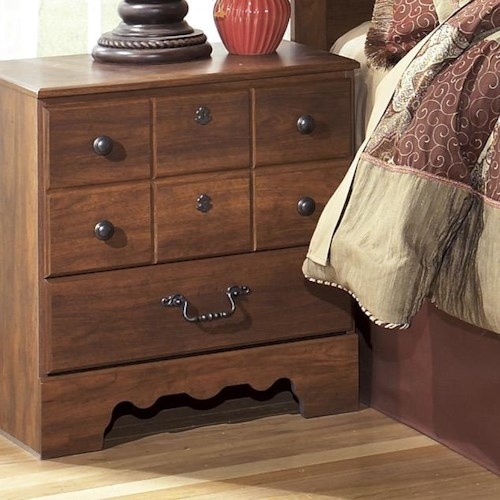Signature Design by Ashley Timberline 2 Drawer Night Stand