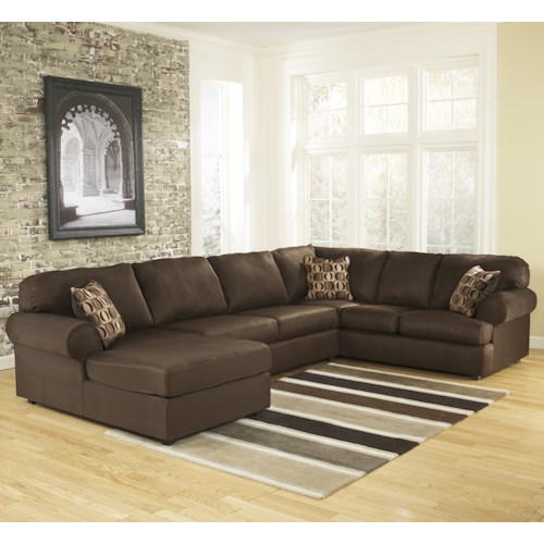 Signature Design by Ashley Cowan - Cafe Roll Arm Left Facing Corner Chaise Sectional