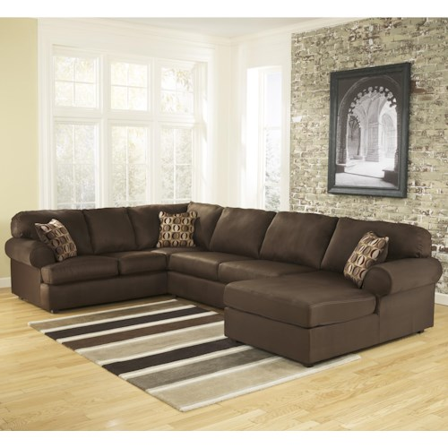 Signature Design by Ashley Cowan - Cafe Roll Arm Right Facing Corner Chaise Sectional