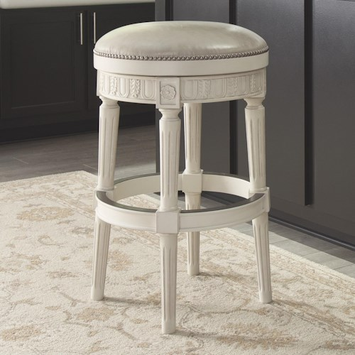 Signature Design by Ashley Crenlam Barstool with Upholstered Swivel Seat