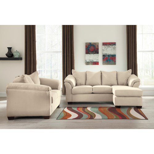 Signature Design by Ashley Darcy - Stone Stationary Living Room Group