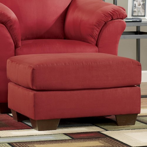 Signature Design by Ashley Darcy - Salsa Contemporary Ottoman with Tapered Legs