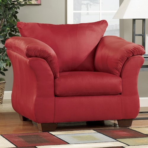 Signature Design by Ashley Darcy - Salsa Contemporary Upholstered Chair with Sweeping Pillow Arms