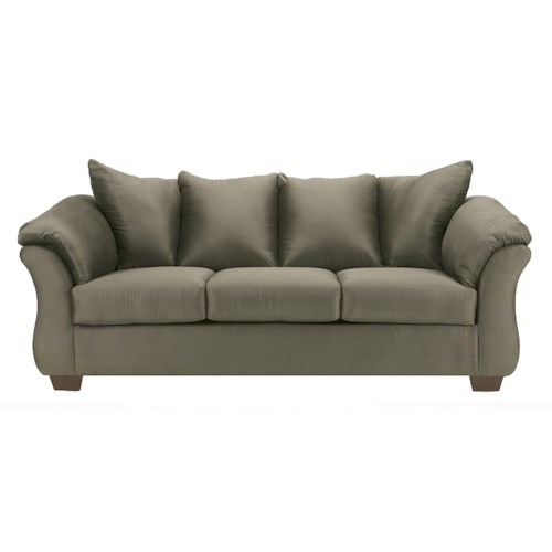 Signature Design by Ashley Darcy - Sage Contemporary Stationary Sofa with Flared Back Pillows