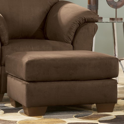 Signature Design by Ashley Darcy - Cafe Contemporary Ottoman with Tapered Legs