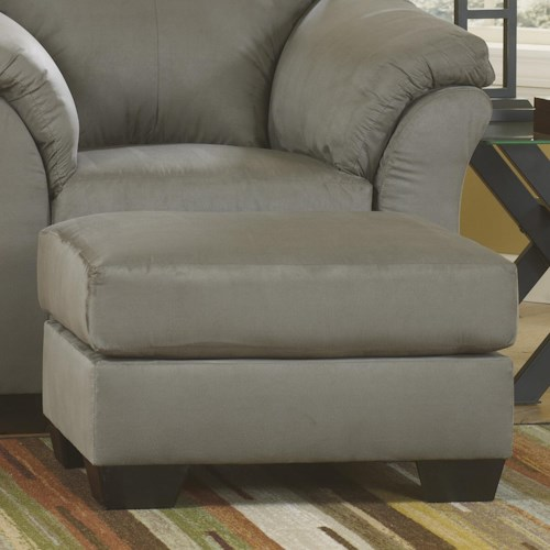 Signature Design by Ashley Darcy - Cobblestone Contemporary Ottoman with Tapered Legs
