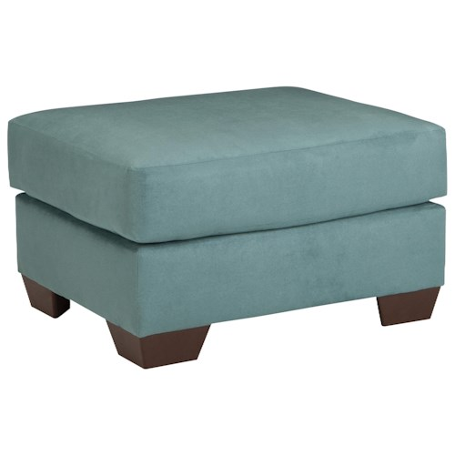Signature Design by Ashley Vista - Sky Contemporary Ottoman with Tapered Legs