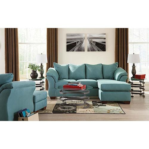 Signature Design by Ashley Vista - Sky 5-Piece Living Room Package