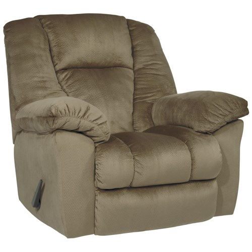 Signature Design by Ashley Darden Brown Microfiber Rocker Recliner