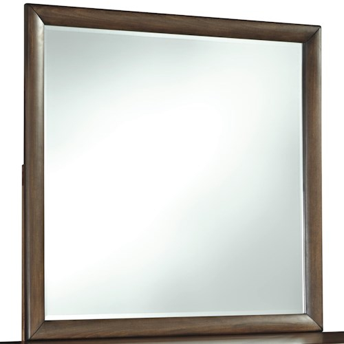 Signature Design by Ashley Debeaux Bedroom Mirror with White Oak Veneers