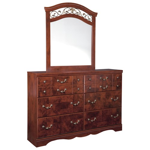 Signature Design by Ashley Delianna Traditional Dresser & Bedroom Mirror