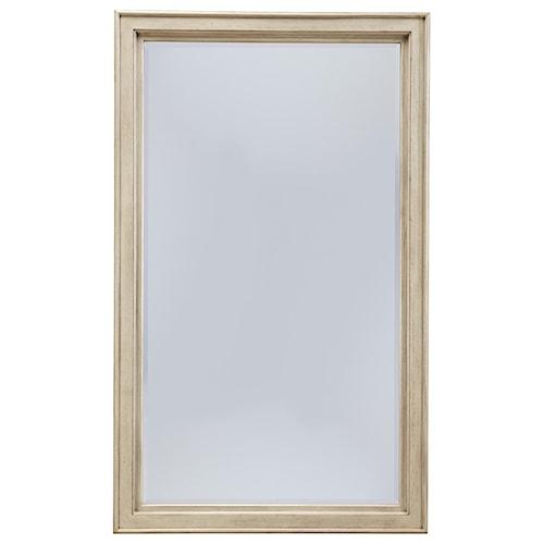 Signature Design by Ashley Clayton Vintage Parchment White Finish Floor Standing Mirror