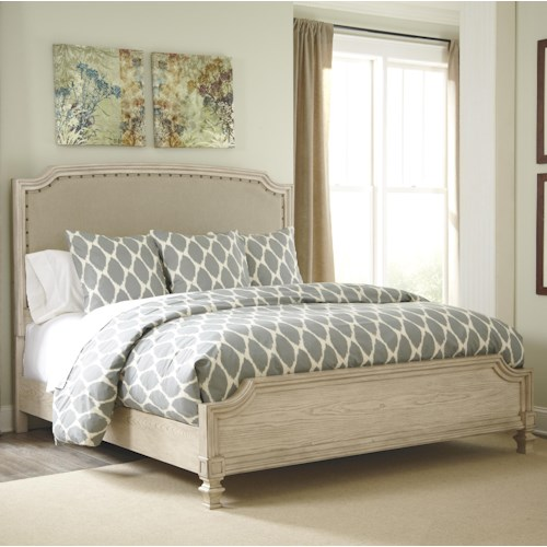 Signature Design by Ashley Demarlos King Upholstered Panel Bed