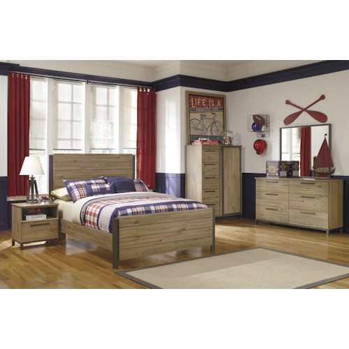 Signature Design by Ashley Dexifield Full Bedroom Group 3 No Chest