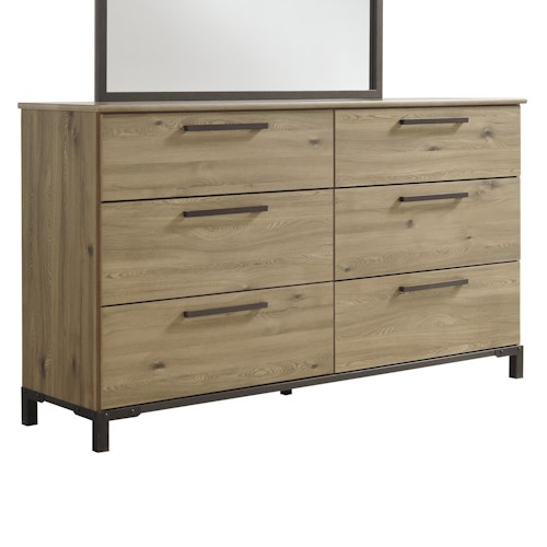 Signature Design by Ashley Dexifield Contemporary Dresser with Metal Feet