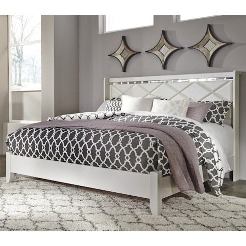 Signature Design by Ashley Dreamur King Panel Bed with Faux Crystals