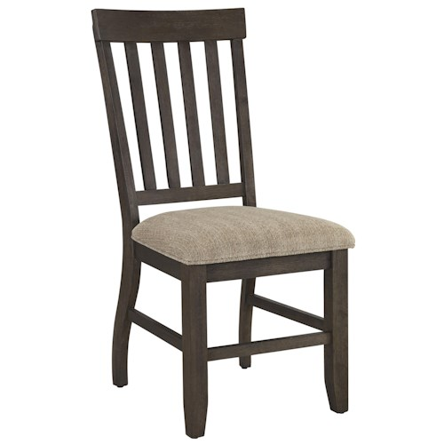 Signature Design by Ashley Dresbar Dining Upholstered Side Chair with Slat Back