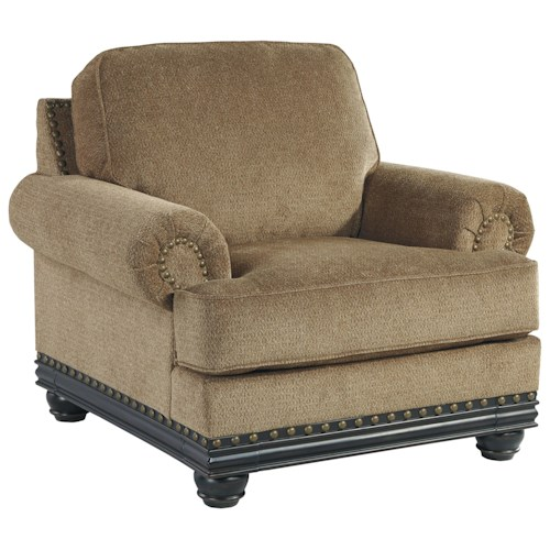 Signature Design by Ashley Elnora Transitional Chair with Reversible Seat Cushion