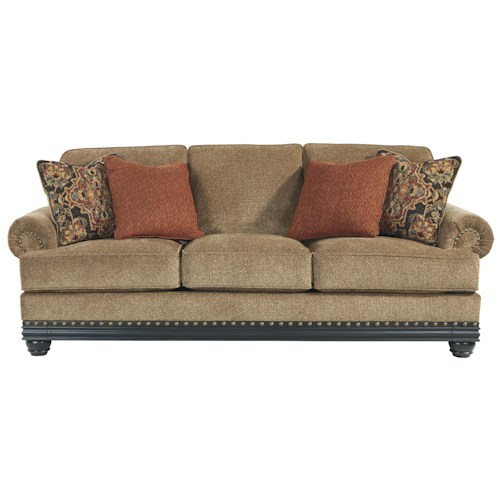 Signature Design by Ashley Elnora Transitional Sofa with Reversible Seat Cushions