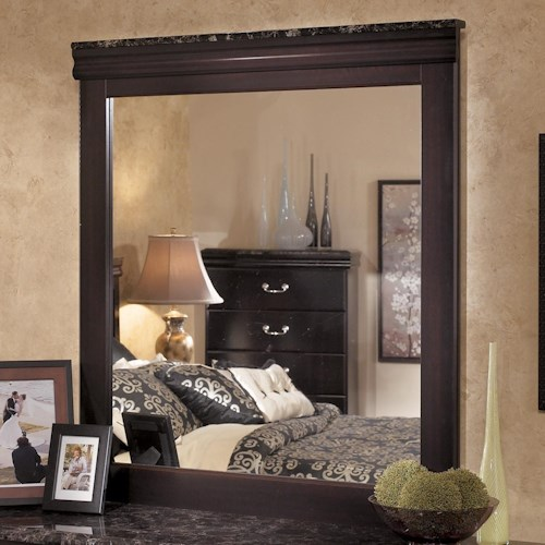 Signature Design by Ashley Esmarelda Mirror with Faux Marble Trim