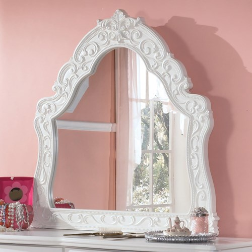 Signature Design by Ashley Lil' Darling Ornate Arched Bedroom Mirror