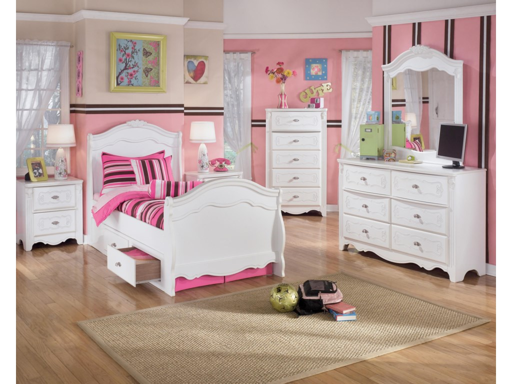 Shown with Night Stand, Twin Sleigh Bed, Chest, Dresser, and Mirror