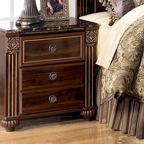 Signature Design by Ashley Gabriela 2-Drawer Night Stand