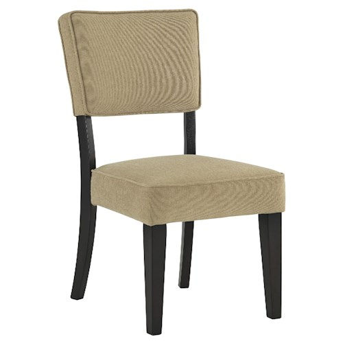 Signature Design by Ashley Gavelston Dining Upholstered Side Chair, Beige Color